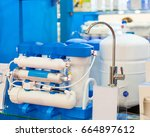 water filter system or osmosis  ... | Shutterstock . vector #664897612