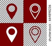 mark pointer sign. vector.... | Shutterstock .eps vector #664898236