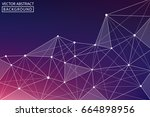 abstract line. vector abstract... | Shutterstock .eps vector #664898956