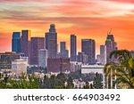 los angeles  california  usa... | Shutterstock . vector #664903492