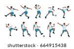 soccer player set   Shutterstock .eps vector #664915438