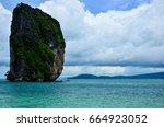 poda island is one of krabi s... | Shutterstock . vector #664923052
