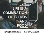 Friends Eating Delicious Food...