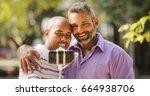 homosexual couple  gay people...   Shutterstock . vector #664938706