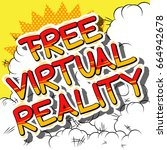 free virtual reality   comic... | Shutterstock .eps vector #664942678
