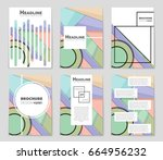 abstract vector layout... | Shutterstock .eps vector #664956232
