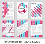 abstract vector layout... | Shutterstock .eps vector #664956238