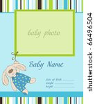 baby boy arrival card with frame | Shutterstock .eps vector #66496504
