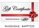 gift certificate. vector...   Shutterstock .eps vector #66497533