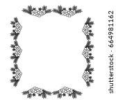square frame deoration floral | Shutterstock .eps vector #664981162