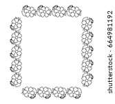 square frame deoration floral | Shutterstock .eps vector #664981192