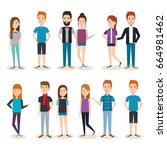 young people design | Shutterstock .eps vector #664981462