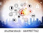 modern technology for business .... | Shutterstock . vector #664987762