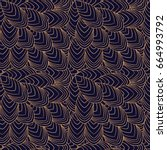 luxury background pattern... | Shutterstock .eps vector #664993792