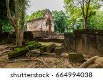 wat phaya dum is a temple in ... | Shutterstock . vector #664994038