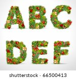 Abcdef  Vector Christmas Tree...