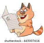 vector illustration of a cute... | Shutterstock .eps vector #665007616