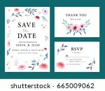 wedding card invitation... | Shutterstock .eps vector #665009062