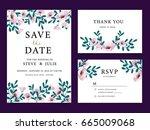 wedding card invitation... | Shutterstock .eps vector #665009068