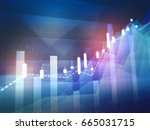for ex trading graph   shares... | Shutterstock . vector #665031715