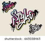 style text in graffiti style...