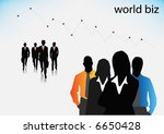 illustration of business people | Shutterstock .eps vector #6650428
