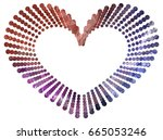 heart shaped mosaic frame with... | Shutterstock .eps vector #665053246