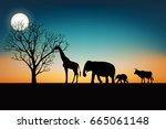 tree of life concept  land of... | Shutterstock .eps vector #665061148