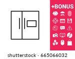 refrigerator linear icon   Shutterstock . vector #665066032