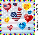 happy independence day card...   Shutterstock .eps vector #665077258