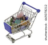 shopping for crystals   mini... | Shutterstock . vector #665078212