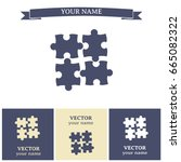 business cards design. puzzle... | Shutterstock .eps vector #665082322