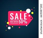 vector banner sales and... | Shutterstock .eps vector #665087182
