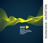 vector illustration. yellow... | Shutterstock .eps vector #665087206