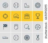 vector illustration of 16 sport ...   Shutterstock .eps vector #665093095
