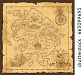 Treasure Map And Pirate Emblem...
