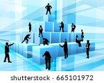 teamwork concept of a business... | Shutterstock .eps vector #665101972