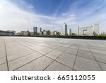 panoramic skyline and buildings ... | Shutterstock . vector #665112055