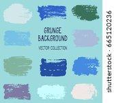 green and blue paint daubs ... | Shutterstock .eps vector #665120236