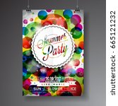 vector summer party flyer