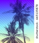 tropical paradise background.... | Shutterstock . vector #665135878