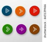 color arrow set    Shutterstock .eps vector #665139466