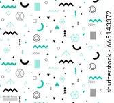 geometric flat pattern. | Shutterstock .eps vector #665143372