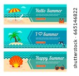 travel and vacation vector... | Shutterstock .eps vector #665146822