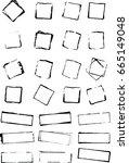 vector rough shape  grunge... | Shutterstock .eps vector #665149048