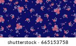 simple gentle pattern in small... | Shutterstock . vector #665153758