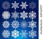 decorative vector snowflakes... | Shutterstock .eps vector #66516457