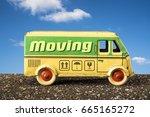 moving truck relocation ... | Shutterstock . vector #665165272