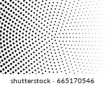 abstract halftone dotted... | Shutterstock .eps vector #665170546