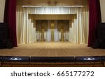 an empty stage of the theater ... | Shutterstock . vector #665177272